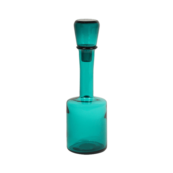 Cylindrical turquoise aqua coloured glass bottle | Home Decor & Accessories, Perth WA