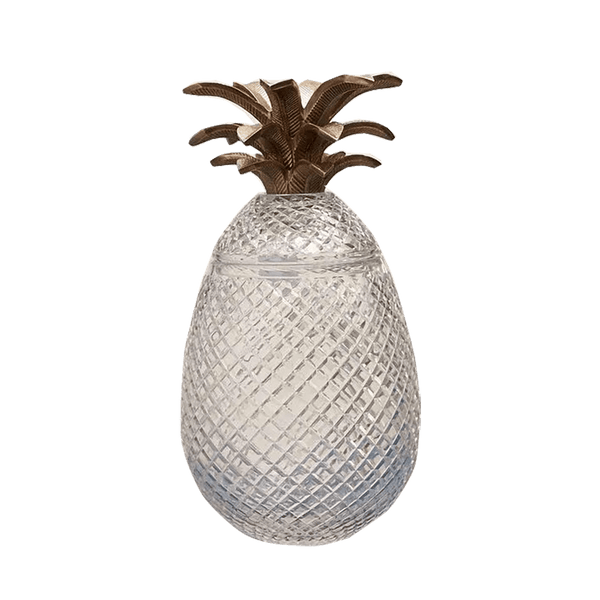 Art deco style crystal pineapple jar with gold leaf detailing | Pineapple home decor, Perth WA