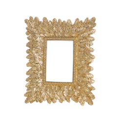 Sienna Gold Feather Picture Frame