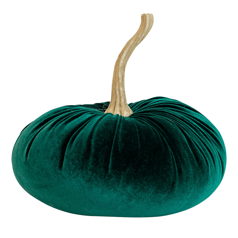 Emerald green velvet pumpkin | Decorative accessories - Perth WA