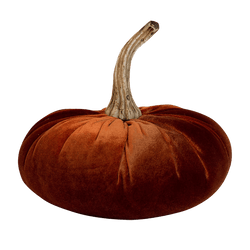 Amber orange velvet pumpkin | Decorative accessories - Perth WA