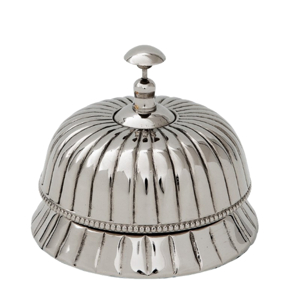 Asprey Nickel Serving Bell