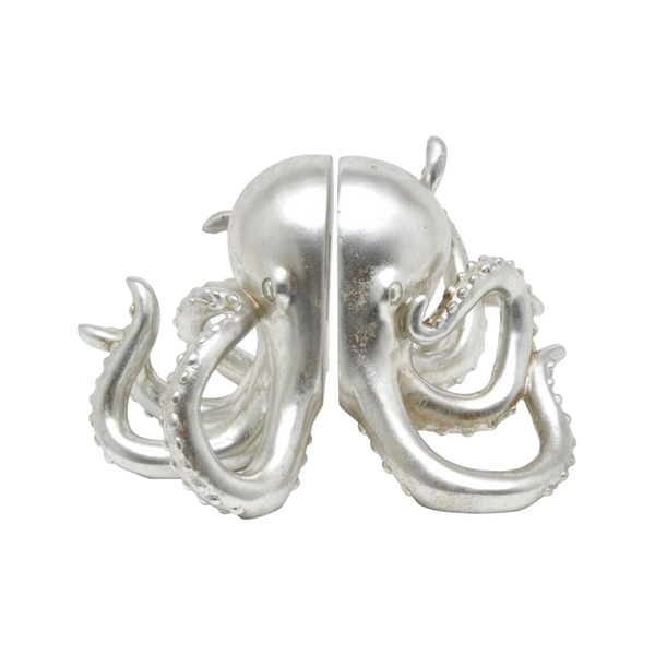 Octopus Bookends - Silver