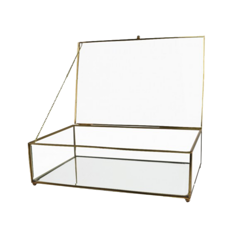 Antique Brass Glass Display Box
