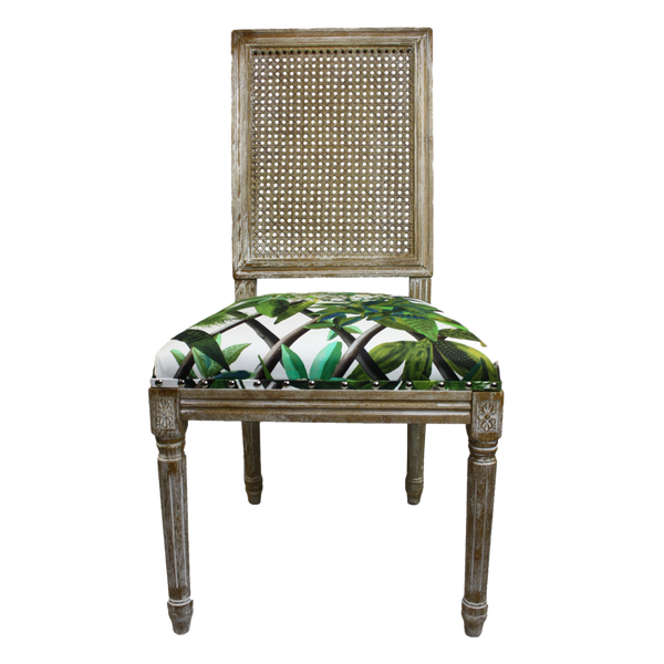 Pierrot Chair in Christian LaCroix Malachite Fabric