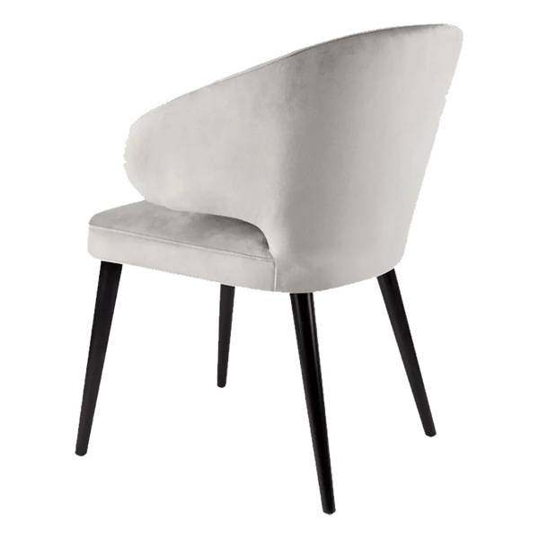 Jackson Velvet Dining Chair - Grey