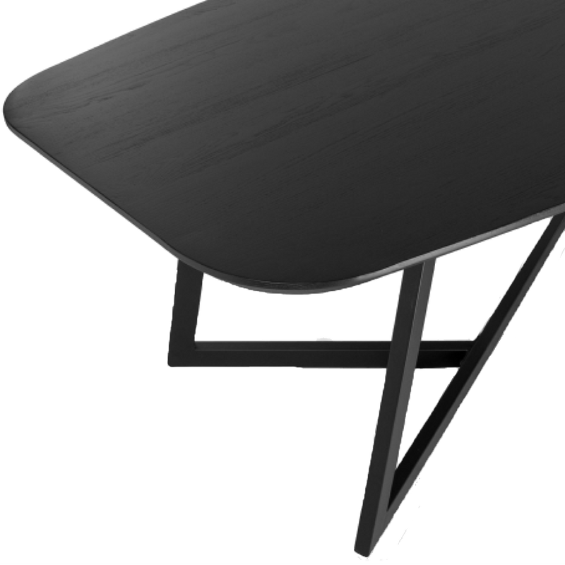 Triagé Black Table with Triangle Legs