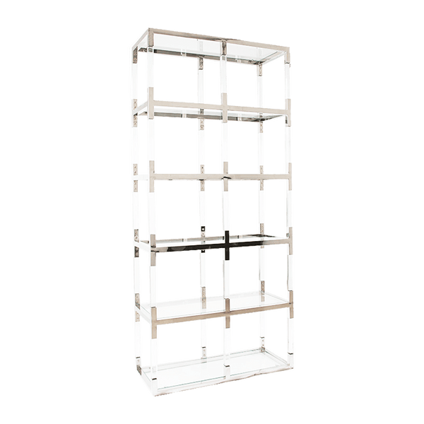 Acrylic cubed shelving unit / display unit with silver edging/framing | Bookcases & display units Perth WA