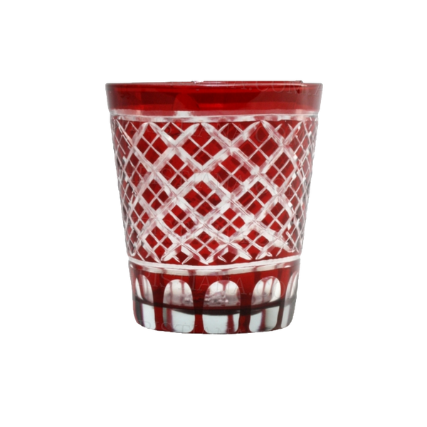 Royalton Ruby Cut Glass Tumbler
