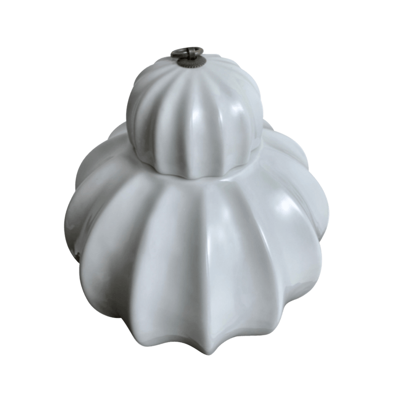 White porcelain jar with ribbed detailing | Decorative home accessories - Perth WA
