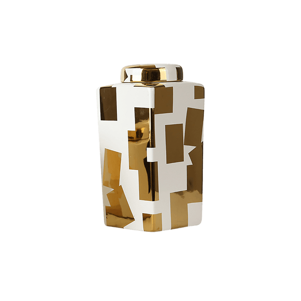 Gold & White Jar