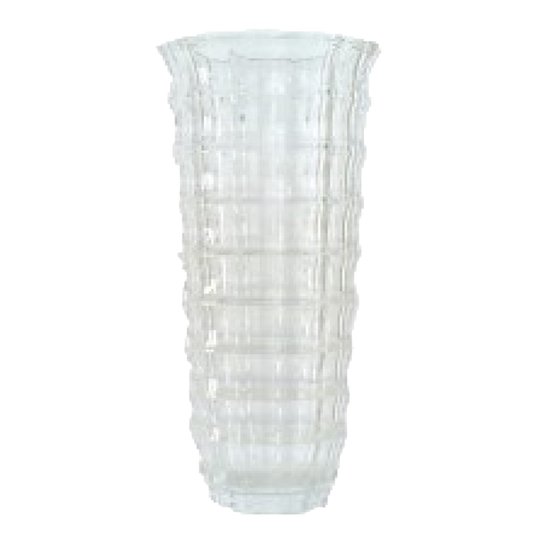 Square Cut Glass Vase