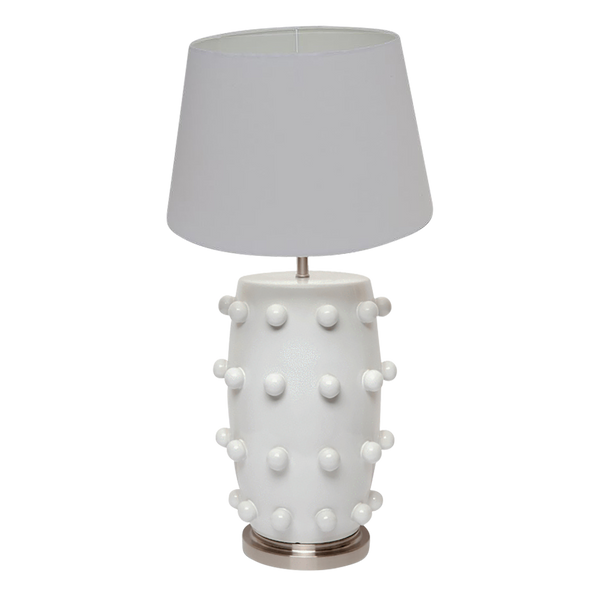 White ceramic punk inspired table lamp | Perth WA