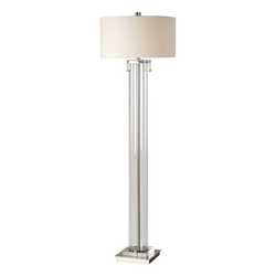 Clear acrylic nickel floor lamp | Lighting, lamps and pendants - Perth WA