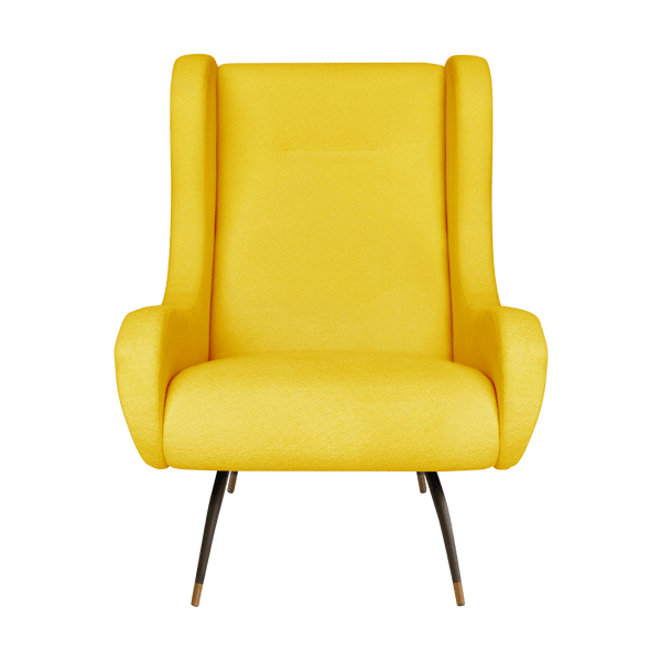 Verona Velvet Chair Canary Yellow | Darcy & Duke Perth WA