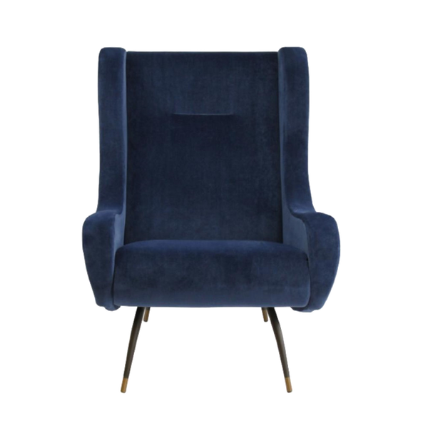 Hunter Velvet Chair - French Navy