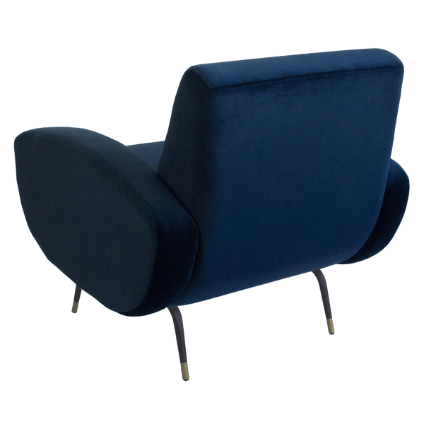 Kennedy velvet arm chair - Navy Blue | Darcy & Duke, Perth WA