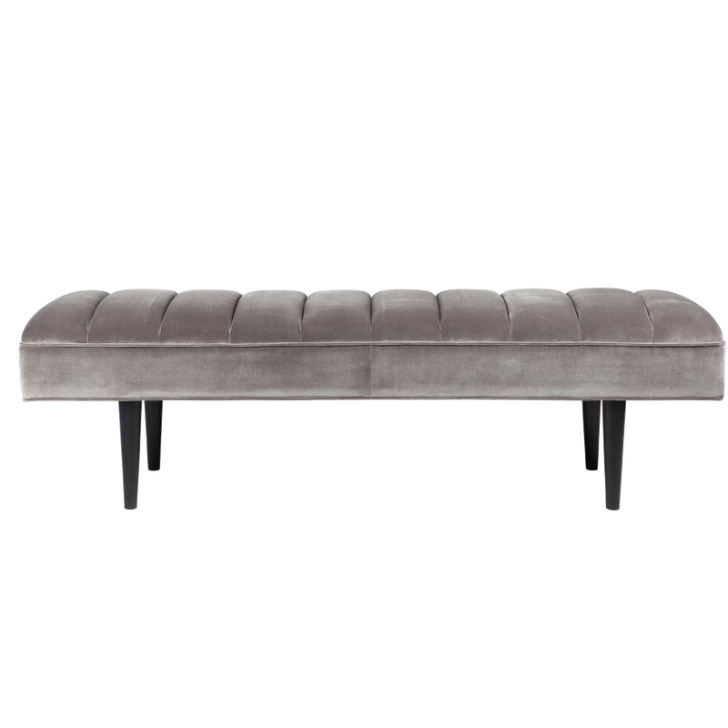 Manhattan Velvet Bed End - Silver Grey