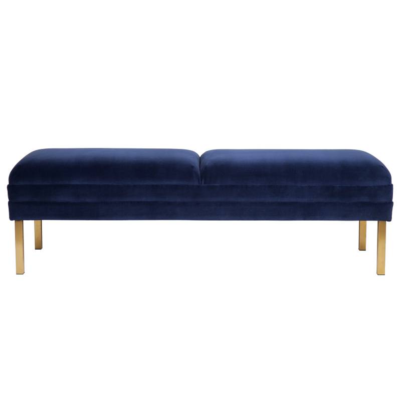 Tahoe Velvet Bed End - Royal Blue