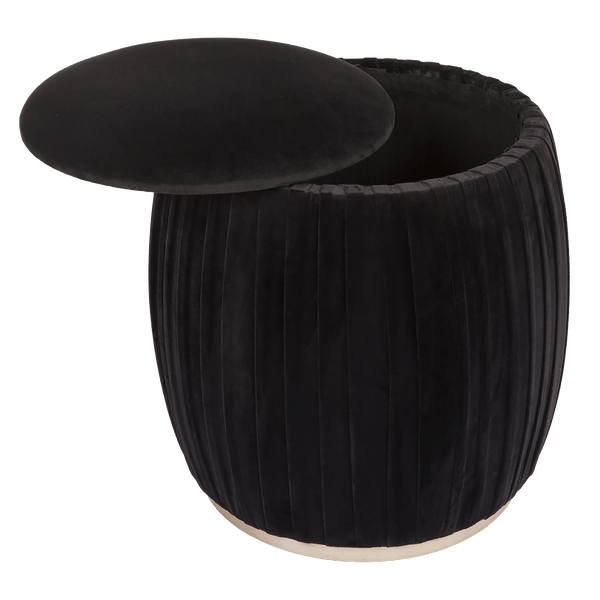 Black capsule storage stool | Ottomans, bench seats & stools, Perth WA