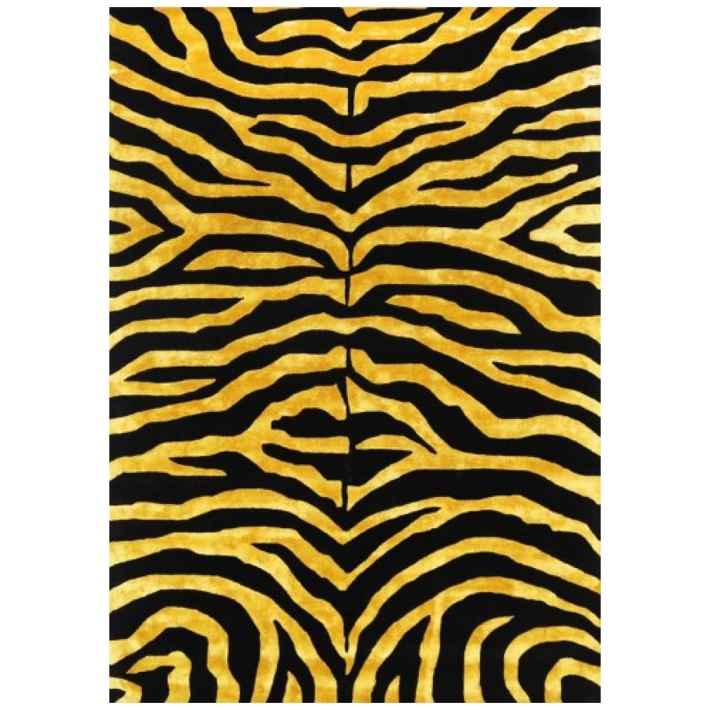 Grevy Black And Gold Rug 200cm X 290cm