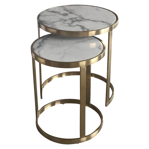 Saturn Nested Side Tables - Gold [Set of 2]