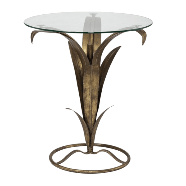 Antique style round side table with fern leaf frame detailing | Luxury side & coffee tables, Perth WA
