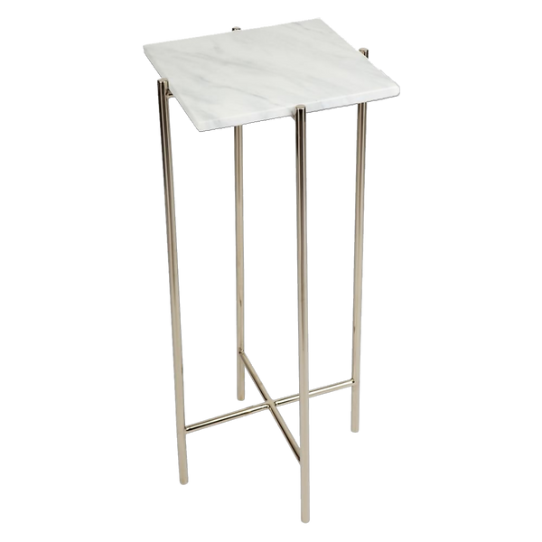 Iron pedestal table with marble top | Side tables and pedestals - Perth WA