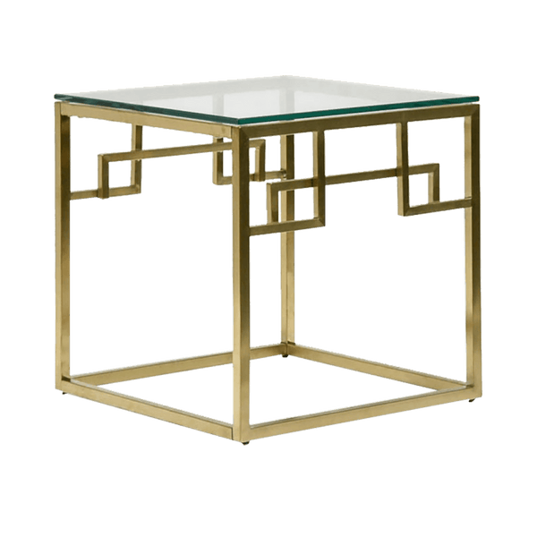 Square art deco inspired gold coffee table | Luxury coffee & side tables, Perth WA