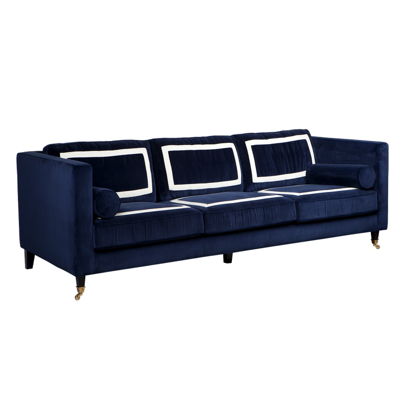 St James 3 Seater Sofa - Navy