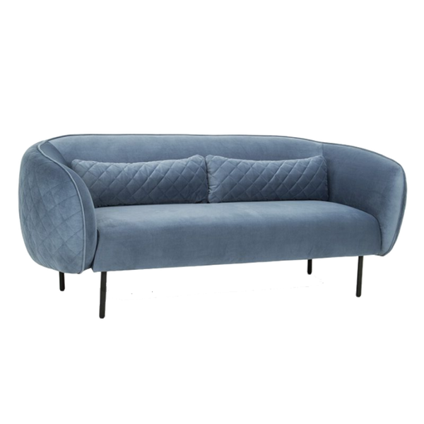 Vendome 3 Seater Velvet Sofa - Duck Egg Blue