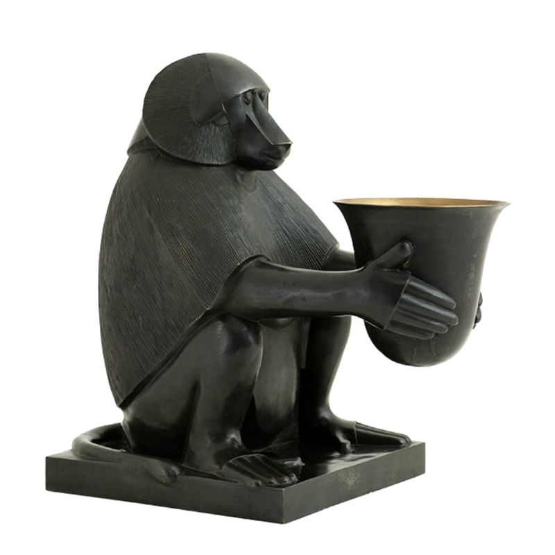 Art Deco Monkey Lamp