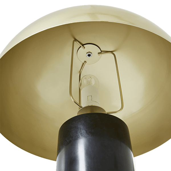 Black marble lamp with golden dome lamp shade | Lighting and lamps, Perth WA