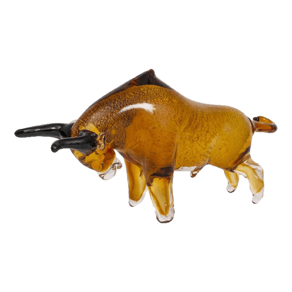 Glass charging bull ornament | Home accessories & animal statues, Perth WA