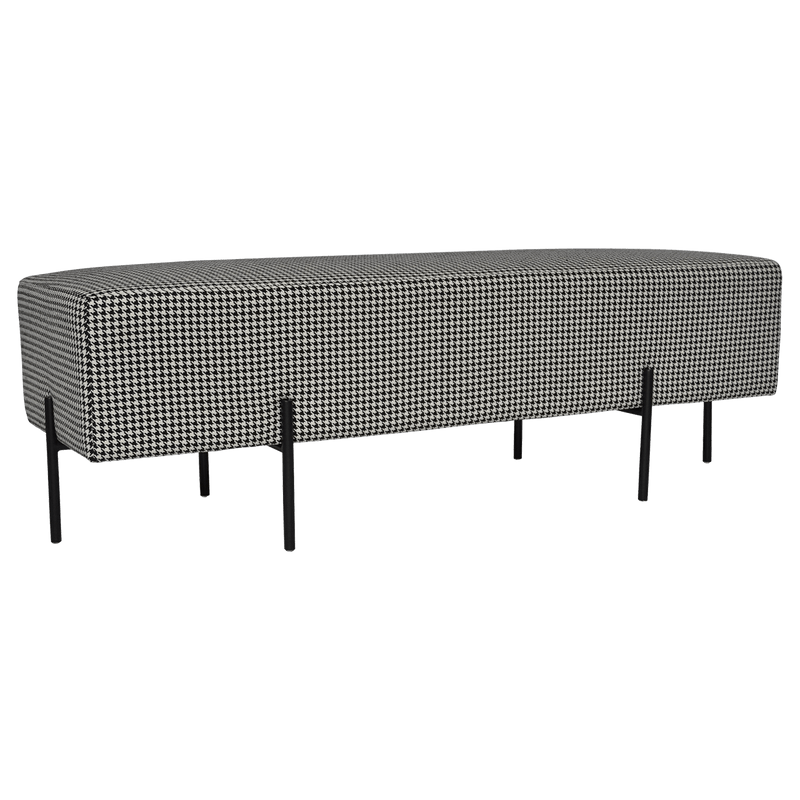Coco Quilted Ottoman - Houndstooth | Luxury bed ends & bench seats - Perth WA