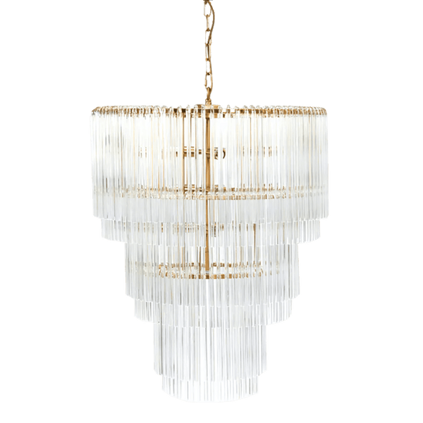 Zara Pendant 3 Tier Brass | Luxury ceiling lights & chandeliers - Perth WA