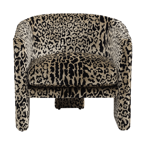 Leopard print velvet tub chair | Luxury armchairs and seating - Perth WA