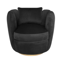 Tulip Swivel Chair - Black | Darcy & Duke furniture Perth WA