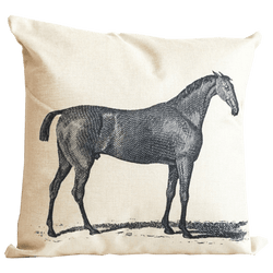 Linen Horse Cushion 45x45cm | Luxury textiles, animal home decor - Perth WA