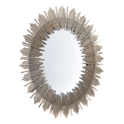 Antique style art deco oval mirror | Hollywood Regency style homeware, Perth WA