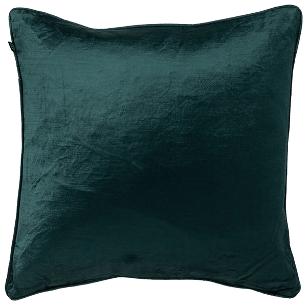 Square forest green velvet cushion | Rapee Roma Cushion - Perth WA