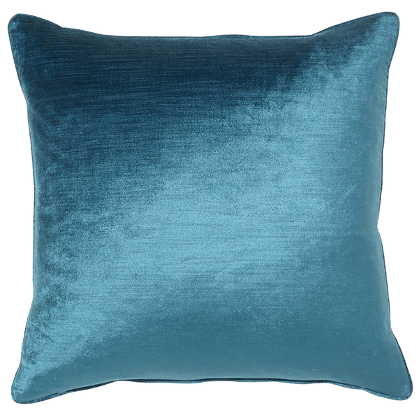 Square teal velvet cushion 55x55cm | Rapee Roma Cushion - Perth WA