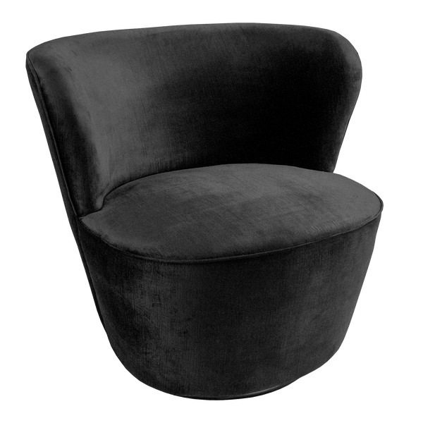 Coco Swivel Chair - Black Velvet | Darcy & Duke, Perth WA