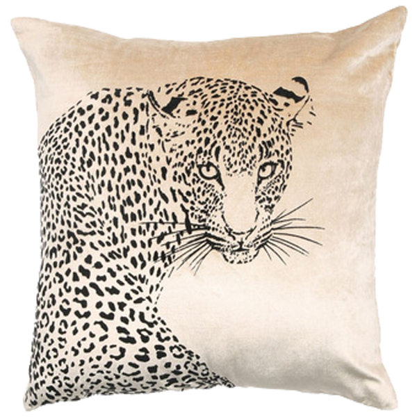 Leopard Cushion - Gold