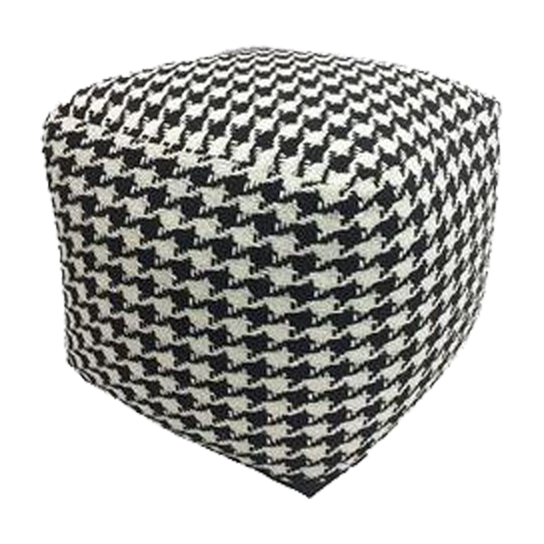 Knitted Houndstooth Ottoman