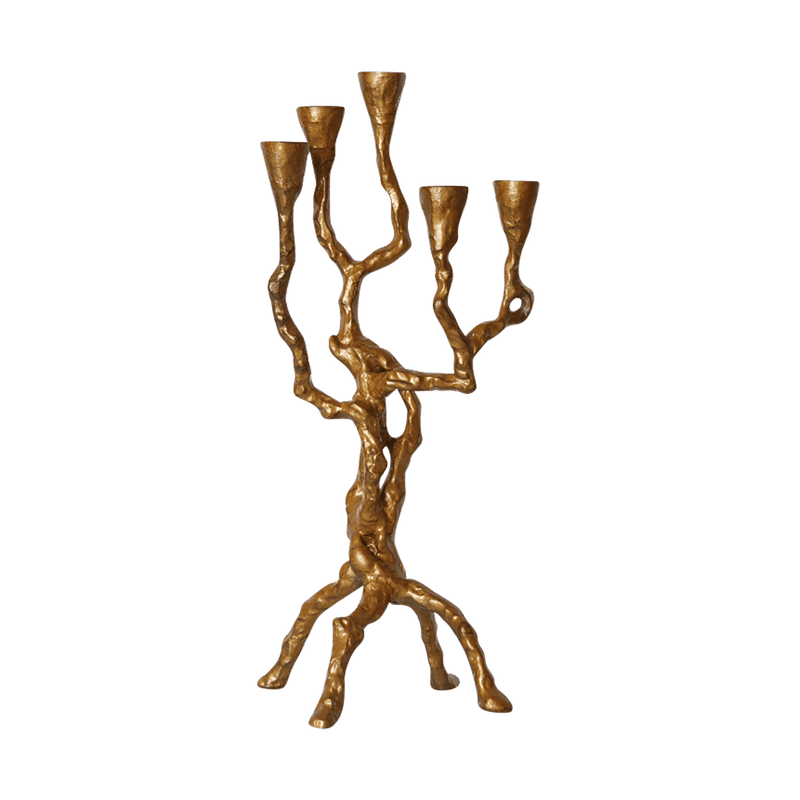Gold branch candleabra | Wrought Iron candle holder | Perth WA