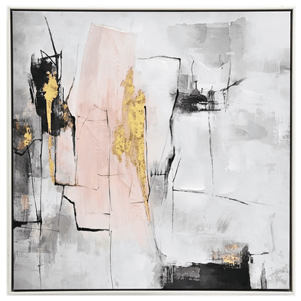 Abstract art with gold, grey and blush tones | Art works, art and canvases - Perth, WA