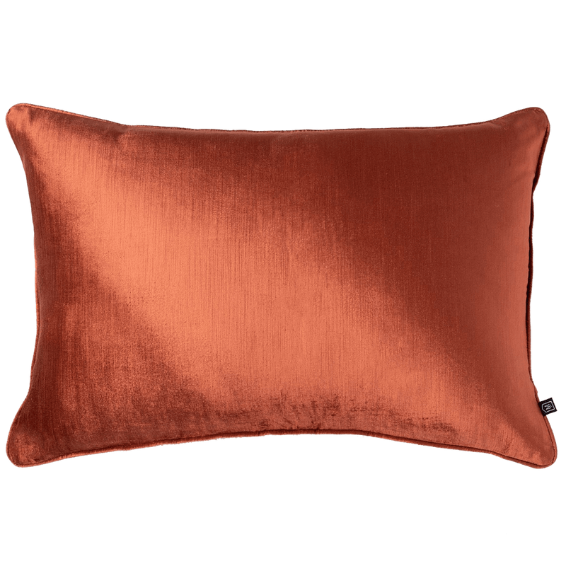Rectangle velvet cushion in a terracotta / brick / clay tone, 40x60cm | Luxury Home Accessories - Perth, WA