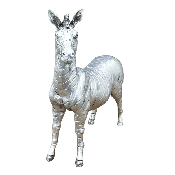 lifelike brushed silver zebra statue | Decorative home accessories - Perth, WA