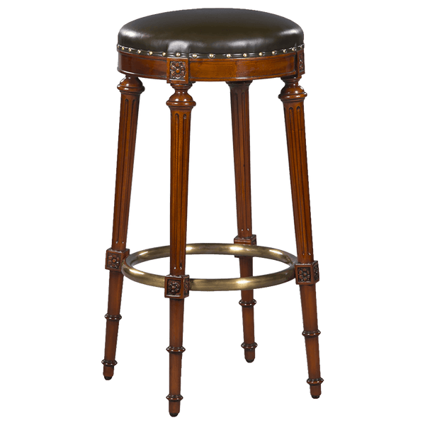 Bar Stool Round with Leather